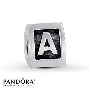 PANDORA A Block Charm